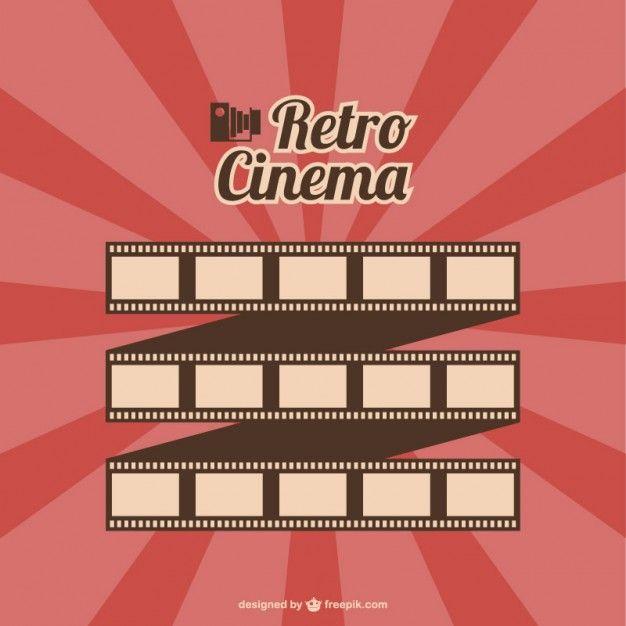 Filmrolle Vektor-Retro-Kino