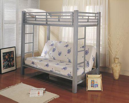 Futon Metal Bunk Bed Roboto Silver Big Lots Dominics room