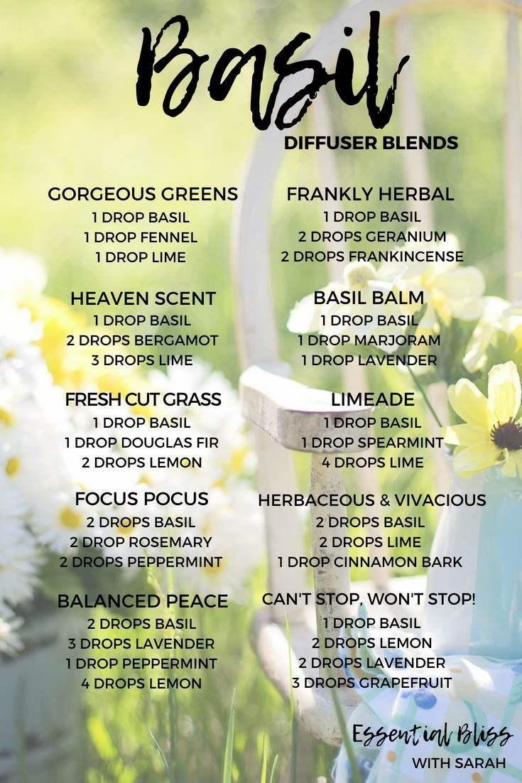 Basil Diffuser Blends Essential Oil Diffuser Recipes Essential Oil Blends Recipes Living Essentials Oils