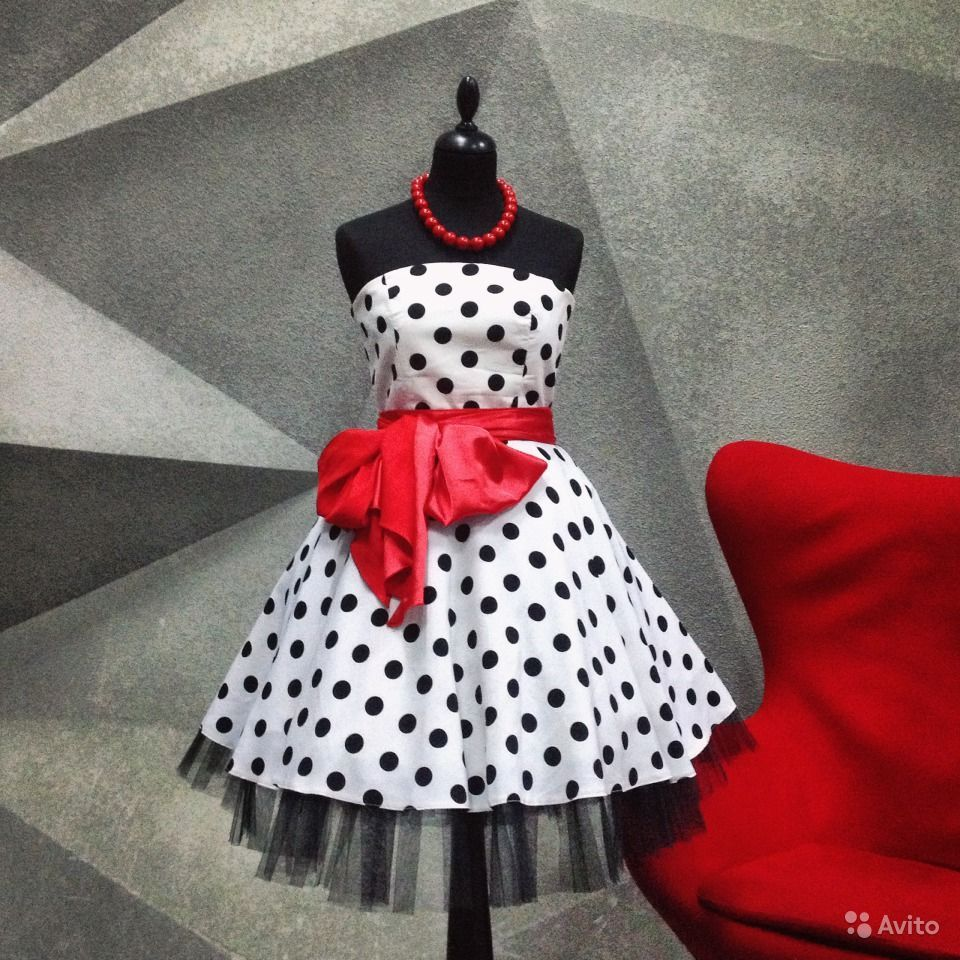 343a4ef9ea6 Стиляги пин-ап pin-ap платье белое в горох черный купить в Москве на Avito  — Объявления на сайте Avito