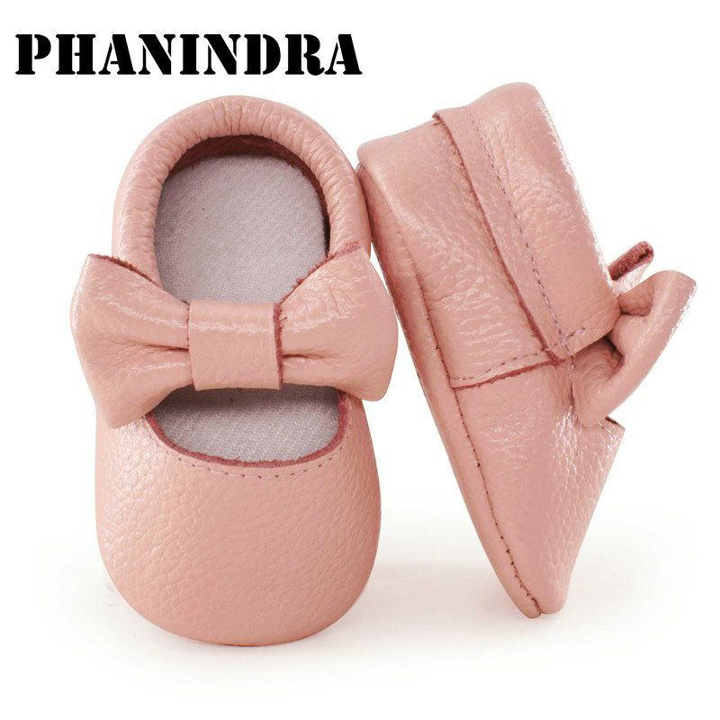 8556bb12f29b2 2019 的 Genuine Leather baby shoes baby Moccasins Soft Moccs side no ...
