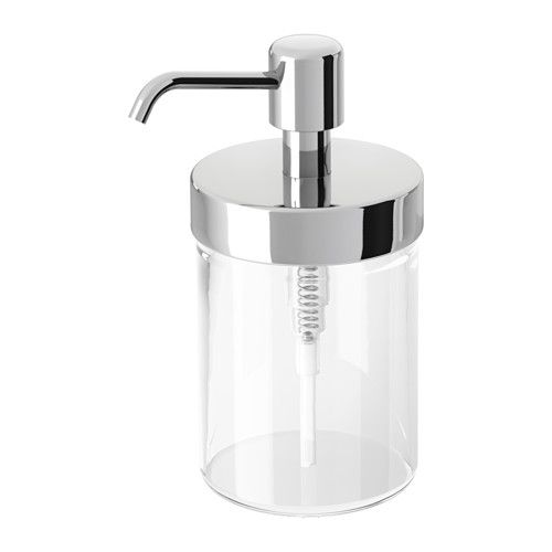 Voxnan Soap Dispenser Chrome Effect Ikea Soap Dispenser Diy Soap Dispenser Bathroom Decor Accessories
