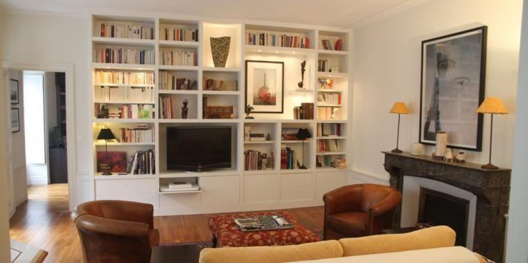 Bibliotheques Sur Mesure Mobilier De Salon Bibliotheque Tv Meuble