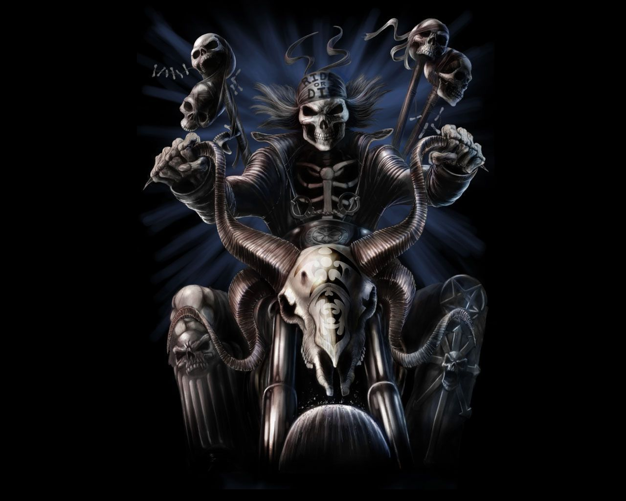 Biker skull wallpapers top free biker skull backgrounds wallpaperaccess