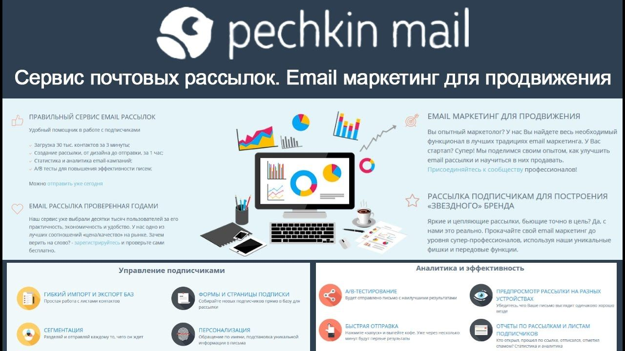 Pechkin Mail Servis Email Marketinga Pechkin Mejl Servis
