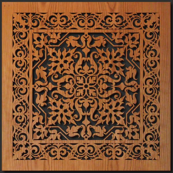 details about tapestry design 1 tile 23 sq wall art laser cut wood made in usa gift - Art Decor