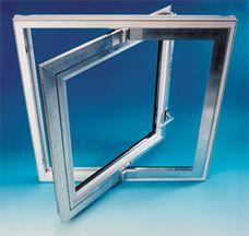 Ventanas pivotantes verticalmente en aluminio barcelona for Empresas de construccion en barcelona