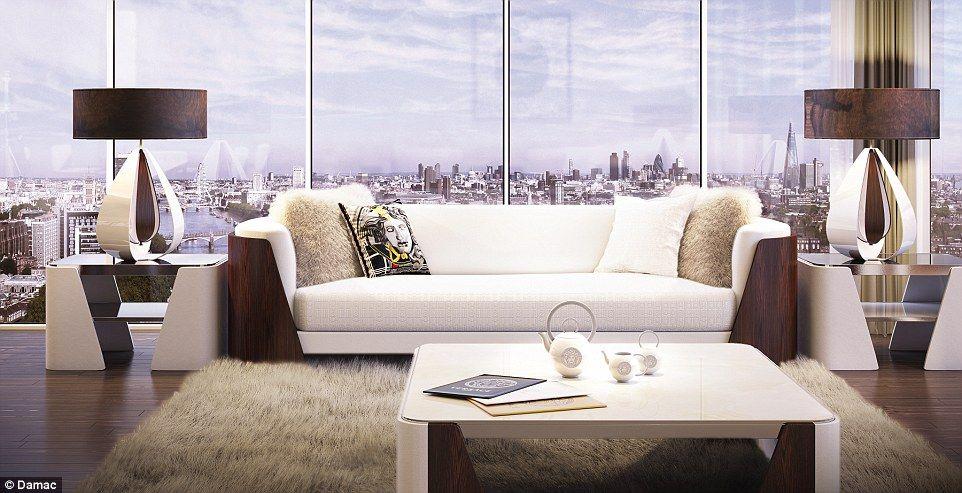 Versace To Design Apartments Inside New 600million London Tower Block Versace Home Apartment Design Modern Living Room Interior #versace #living #room #set