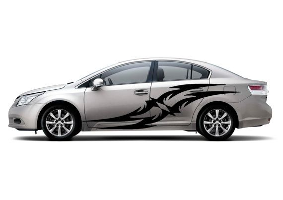 Auto Vinyl Art Pattern Mural Decal Car Door Window Bumper Sticker - Vinyl decals car