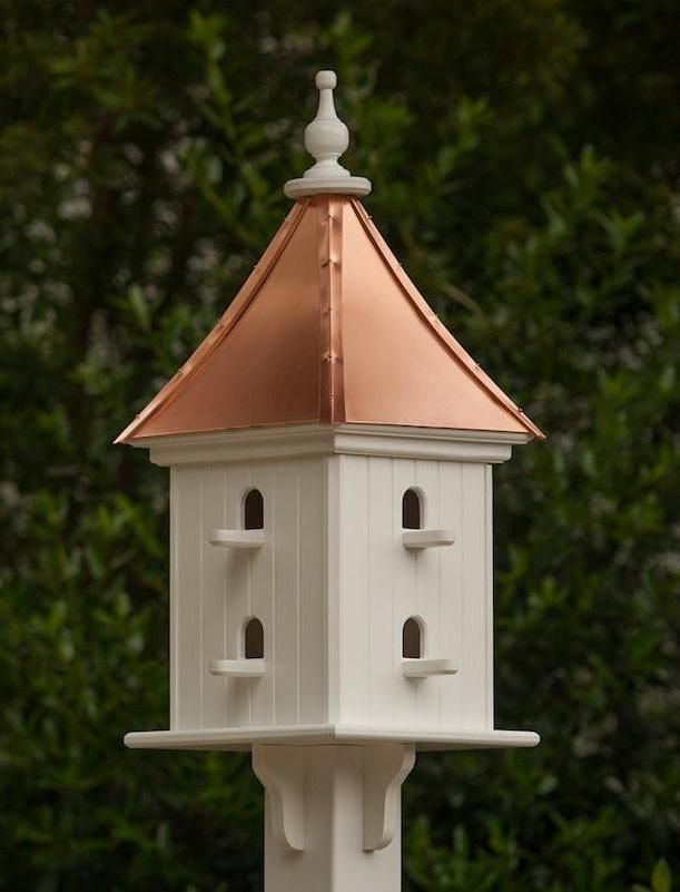 Copper Roof Birdhouse 28x12 8 Perches Copper Roof Bird Houses Bird House