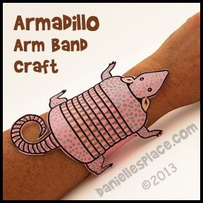 Armadillo Arm Band Craft For Kids From Www Daniellesplace