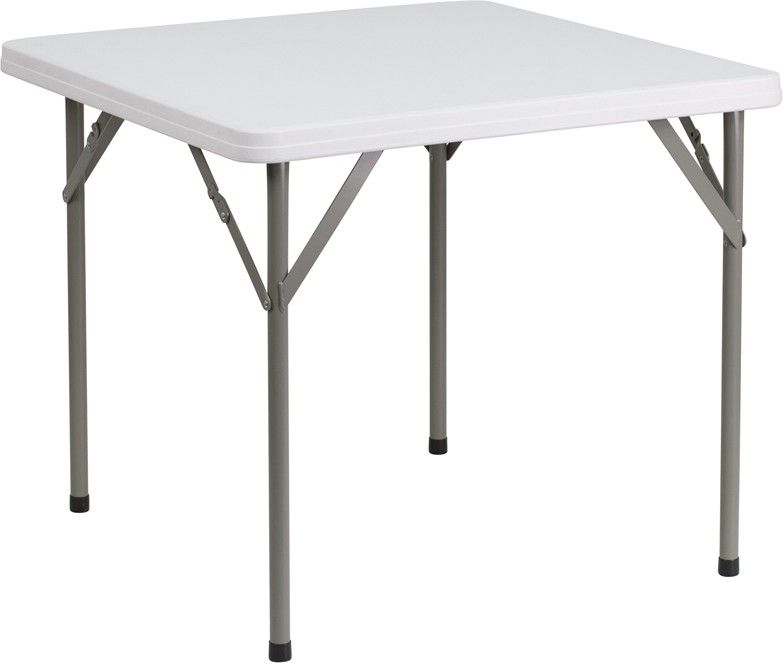 34 Square Granite White Plastic Folding Table Furniture