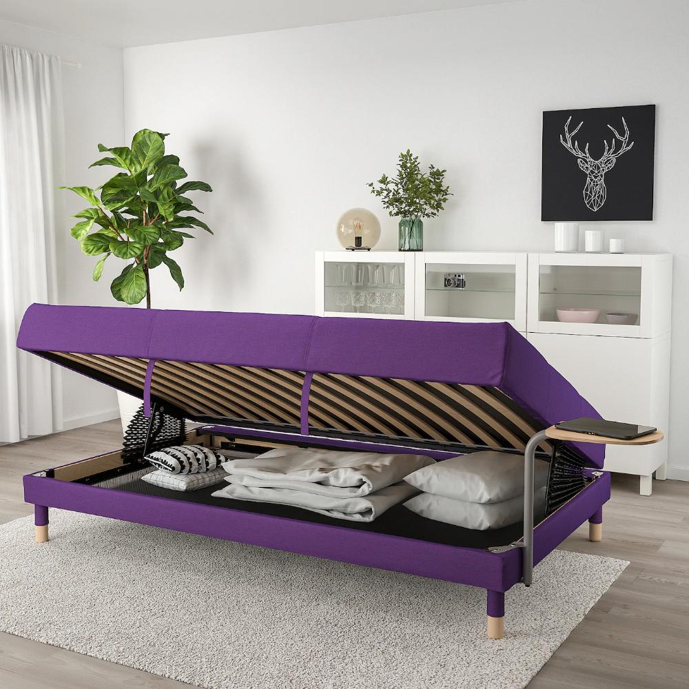 Flottebo Sleeper Sofa With Side Table Vissle Purple 47 1 4 Sleeper Sofa Sleeper Sofa Mattress Sofa Frame