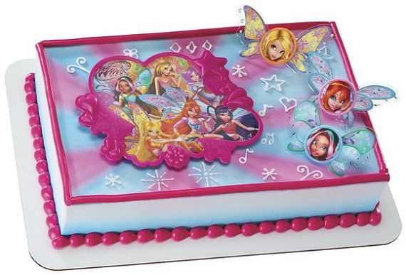 Winx Fairies Cake Topper Kit Birthday Party Supplies toys cake decorating baking Winx Club - Fairy  sc 1 st  Pinterest : fairy cake decoration ideas - www.pureclipart.com