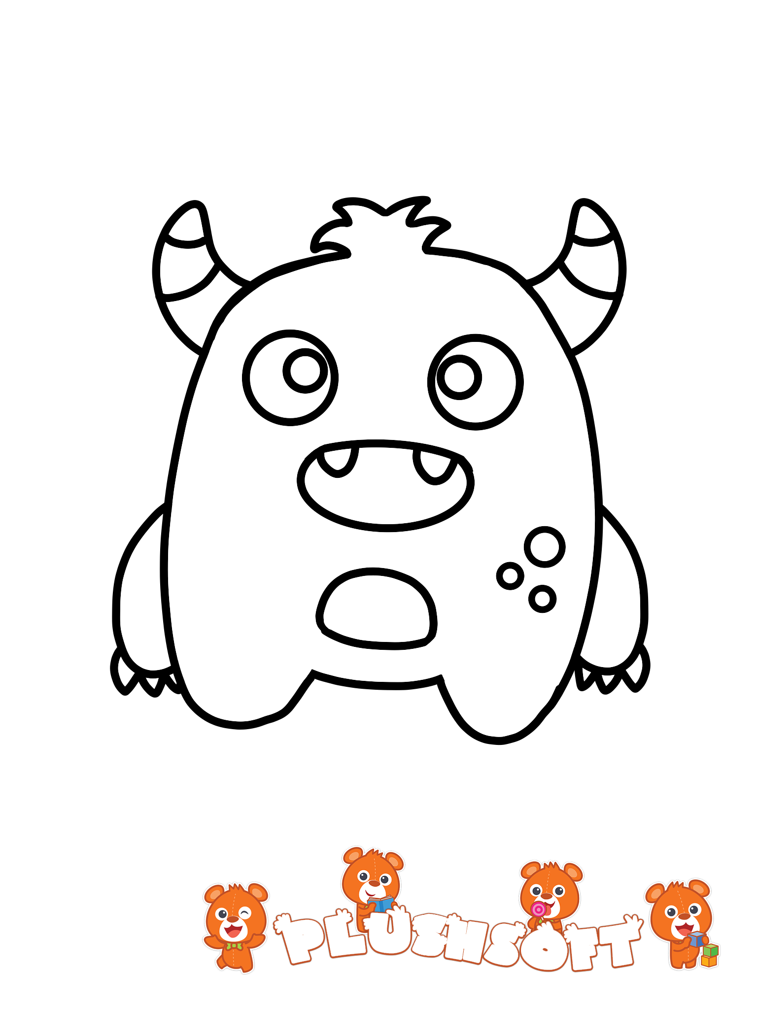 free printable coloring page - a cute monster for your