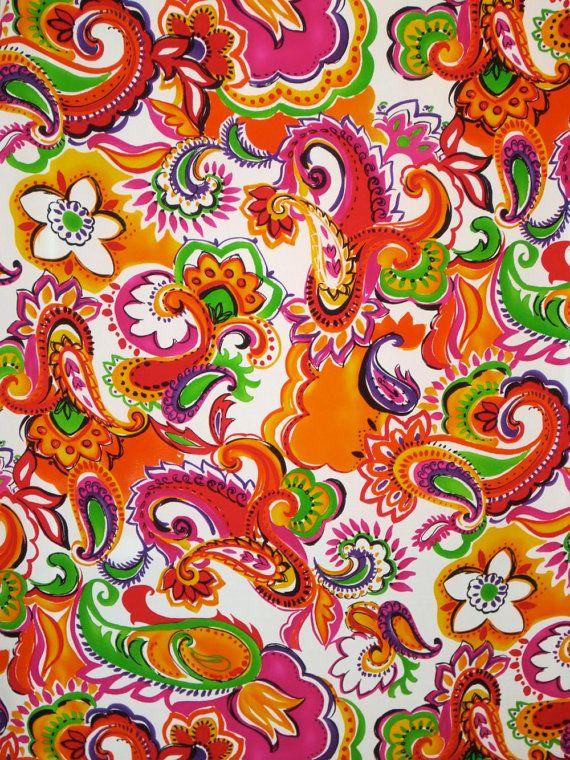 Brilliant Large Paisley Print Pure Silk Pique FabricOne Yard