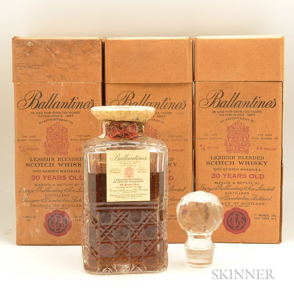 Ballantine S 30 Years Old Scotland Official Bottling C 1952