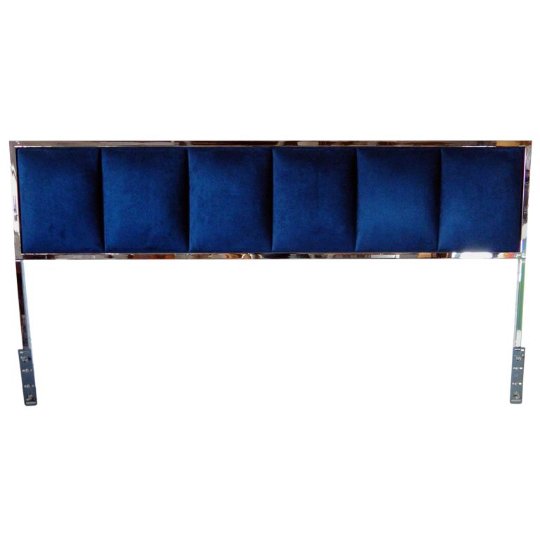 1stdibs - Chrome King Headboard explore items from 1,700  global dealers at 1stdibs.com