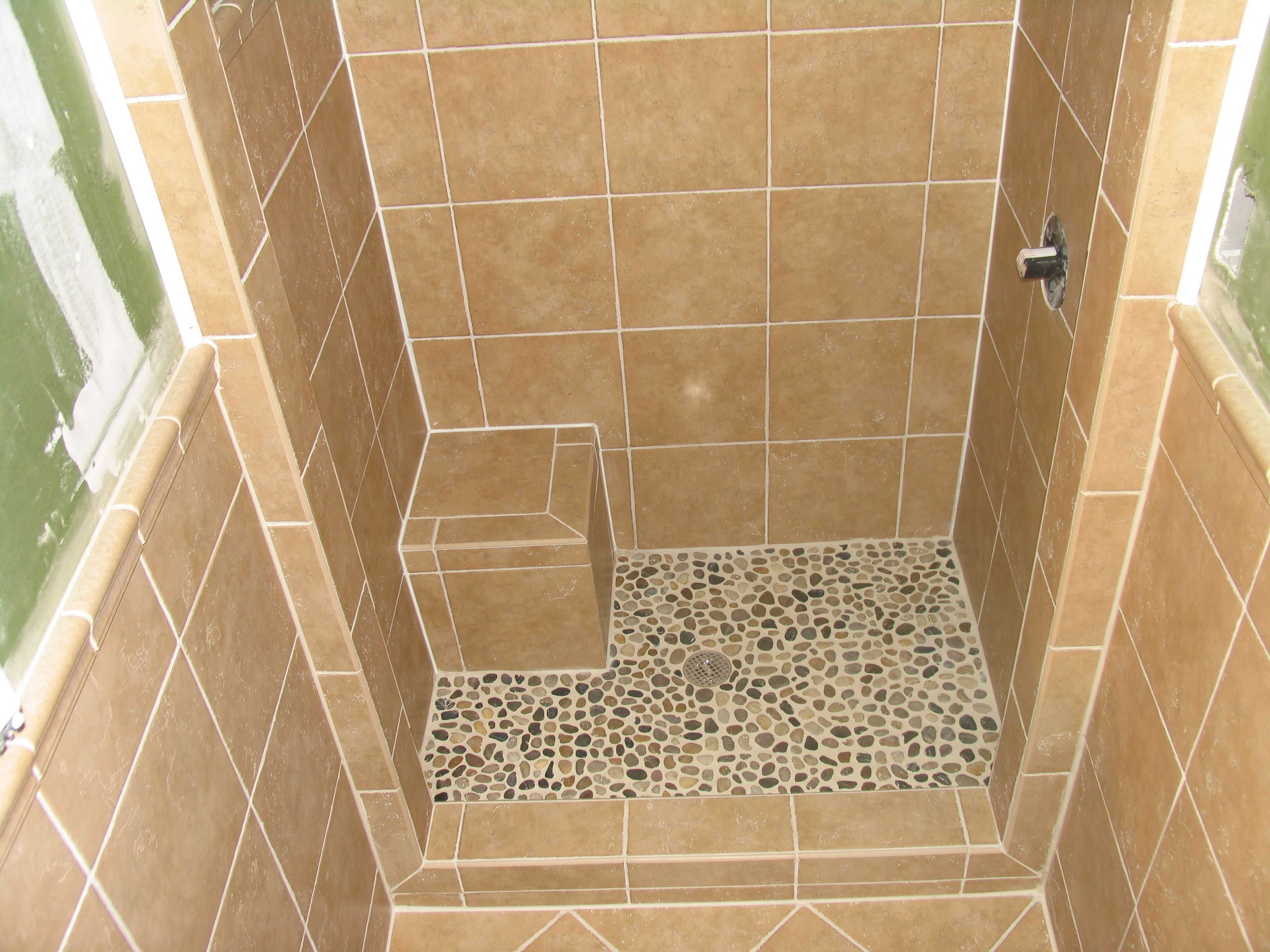 Stand Up Shower Tile Tile Work Pinterest Small