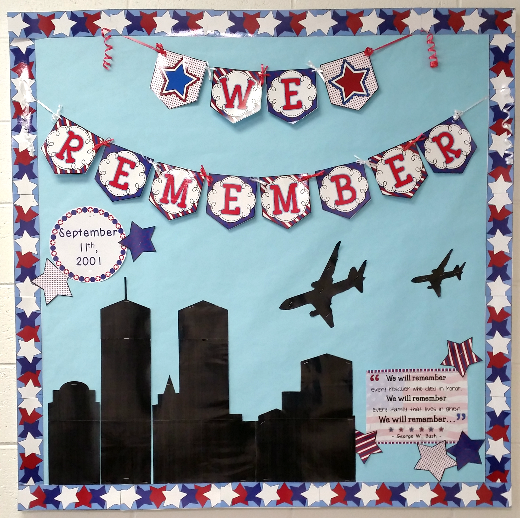 Patriot Day September 11th Bulletin Board Set 9 11 September B B Patriots Day History Fair History Fair Projects