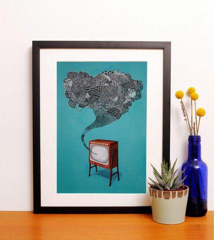 KIRSTEN MCCREA / JOHNNY FOREVER • affordable art print from Papirmass - Papirmass • Affordable Art