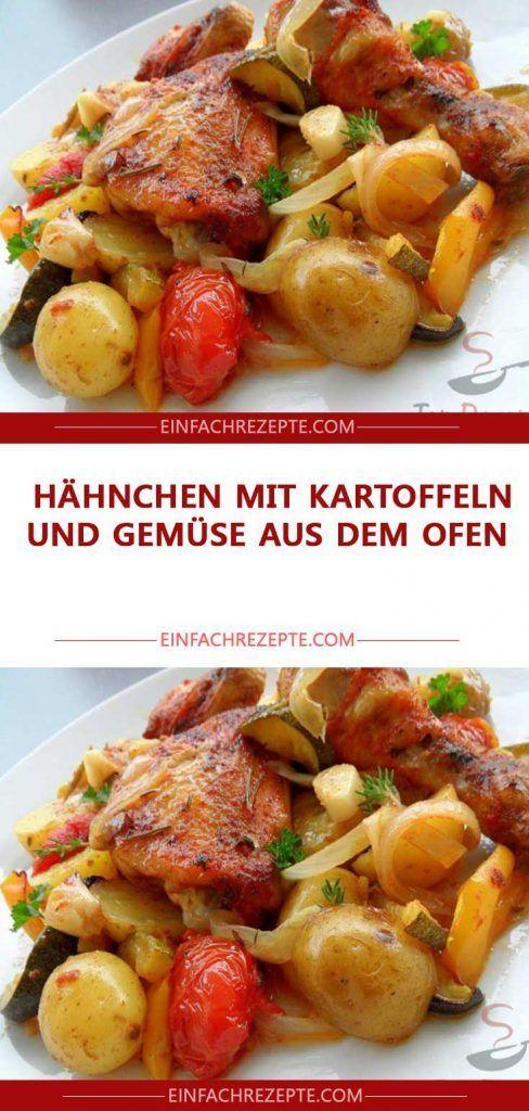 Hähnchen mit Kartoffeln und Gemüse aus dem Ofen 😍 😍 😍