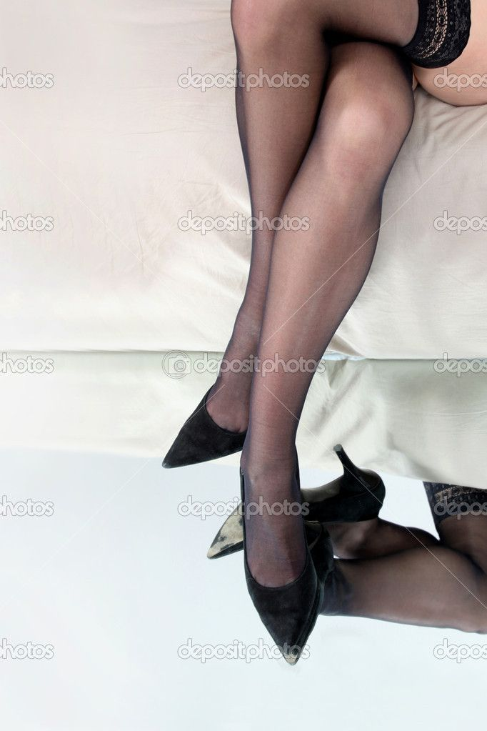 legs and heels | Lady's legs in stockings and heels — Stock Photo © photography33 ...