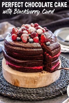 Blackberry Chocolate Cake #easychocolatecake