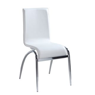 Somette Laine White Arch Leg Side Chair (Set of 4)