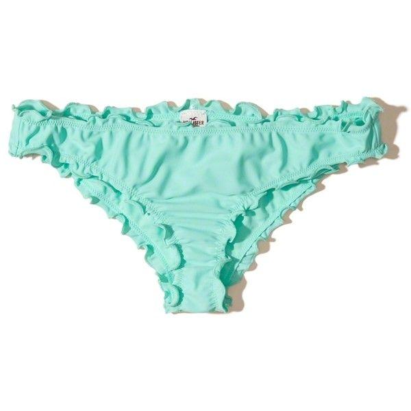 8ea079d3c3e Hollister Ruffle Cheeky Bikini Bottom ($15) ❤ liked on Polyvore ...