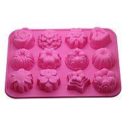 12-en-1+torta+de+goma+/+pan+/+mousse+/+jalea+molde+suave+/+de+chocolate+(color+al+azar)+–+USD+$+8.99