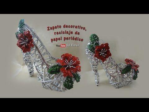 Decorative Shoe, Recycling Of Newsprint