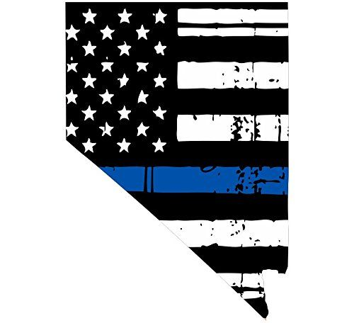 Nevada Tattered Thin Blue Line Us Flag Honoring Our Men Women Of Law
