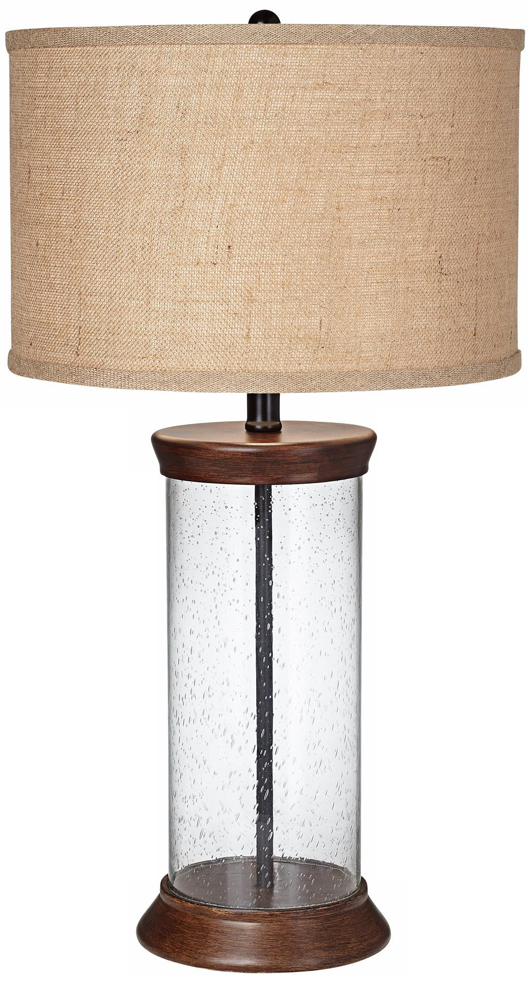 Sanford Bubble Glass Fillable Table Lamp