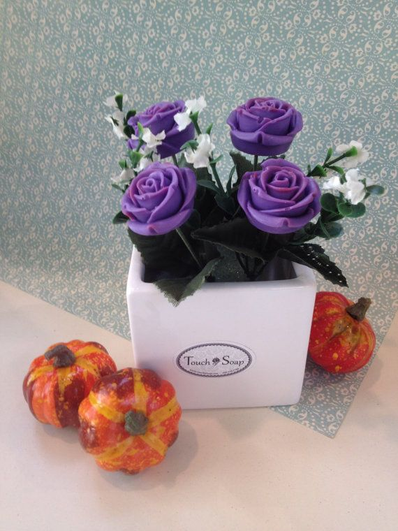 Scented Soap Flower Arrangement Amazing air by TouchofSoap on Etsy