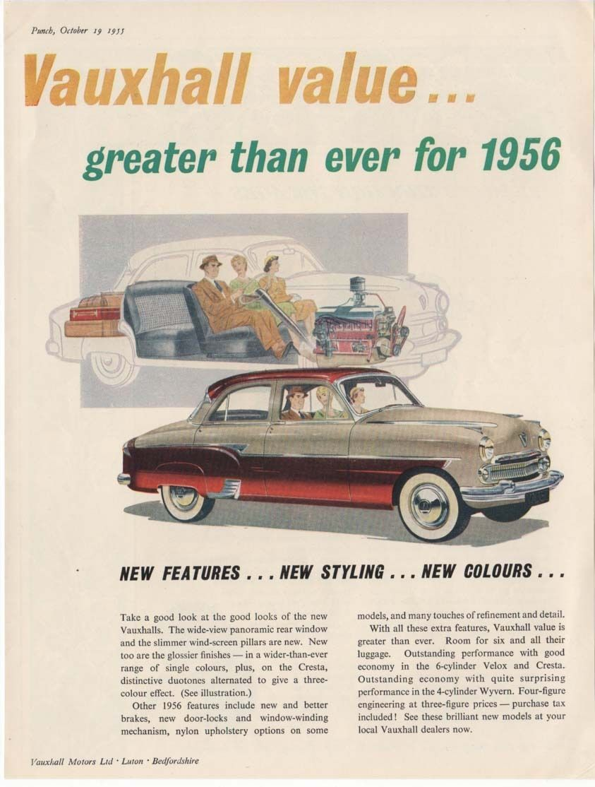 The VAUXHALL CRESTA -- Showing Cut-Through Section (1955 ...