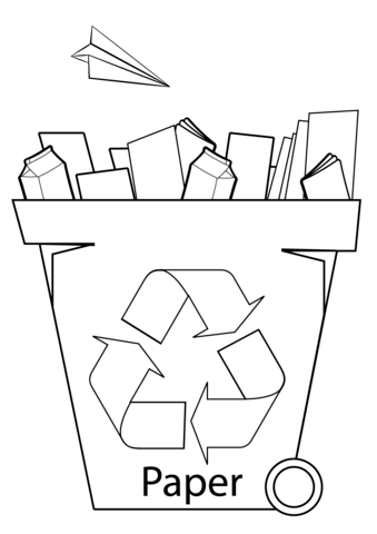 Paper Recycling Bin Coloring Page Free Printable Coloring Free Printable Coloring Pages Paper Recycling Bins