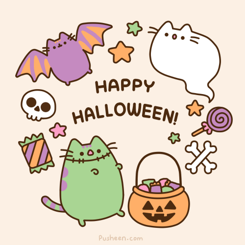 happy halloween pusheen the cat via fb