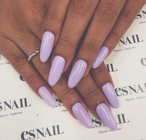 ♡pinterest Pinkbabyarii♡ Lilac Nails Purple Nails Pretty Nails