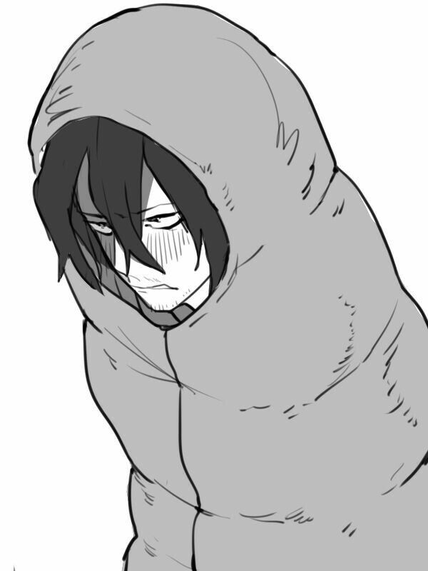 Aizawa Shouta, Eraserhead, sleeping bag, funny, blushing