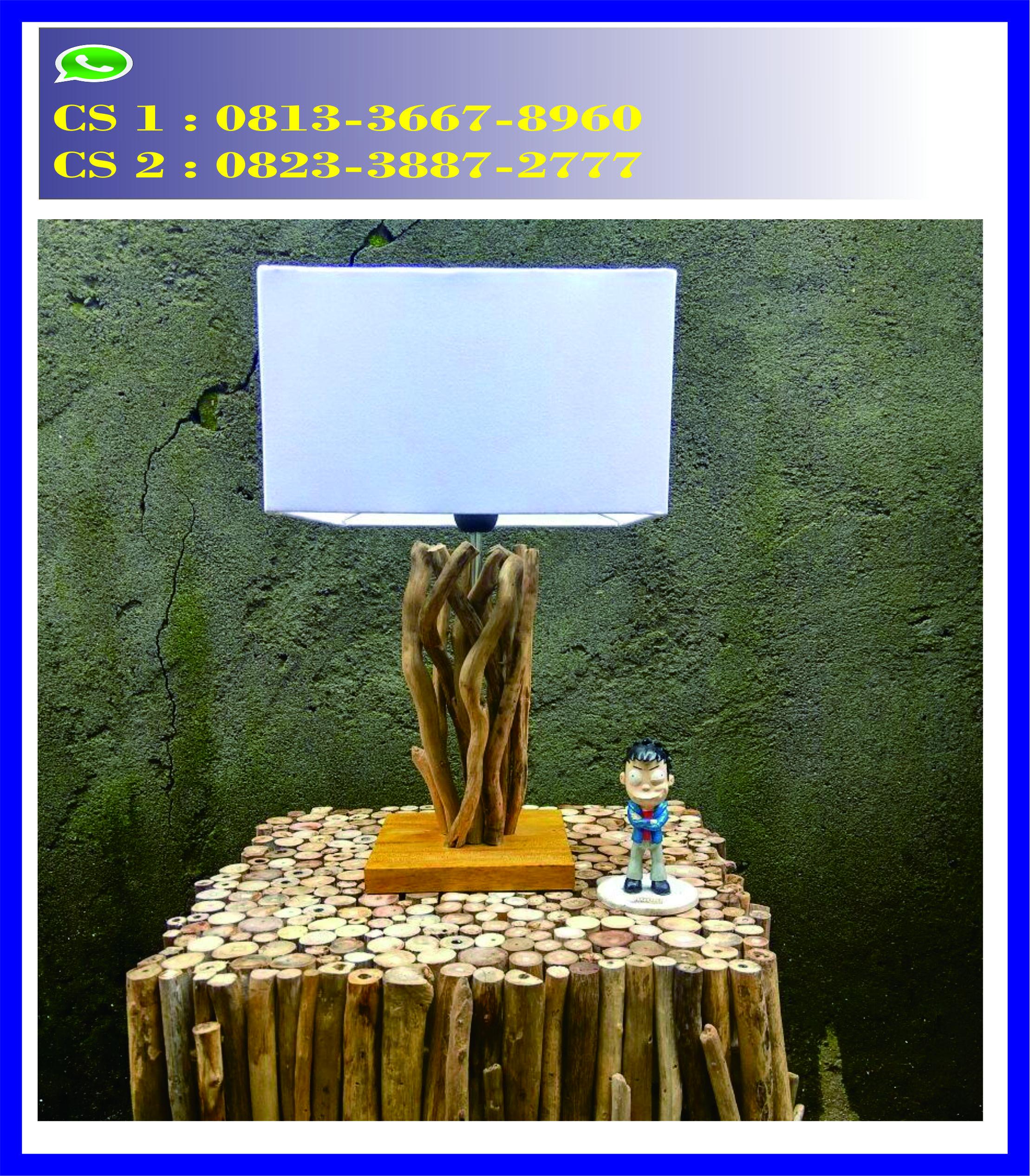 Hiasan Dinding Lampu Kayu