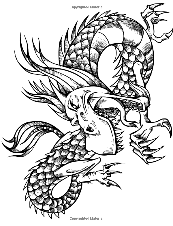 Dare Dragons Adult Coloring Books Featuring Over 25 Fierce And Stress Relieving Dragon Designs