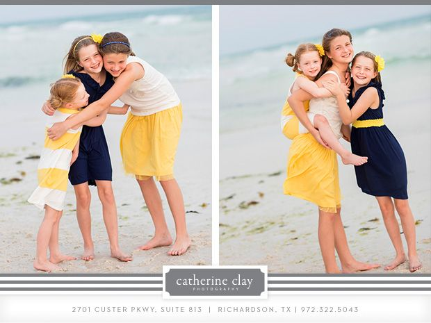 Sibling Beach Pictures Florida Clothing Ideas Children Watercolor Seaside Family Catherine
