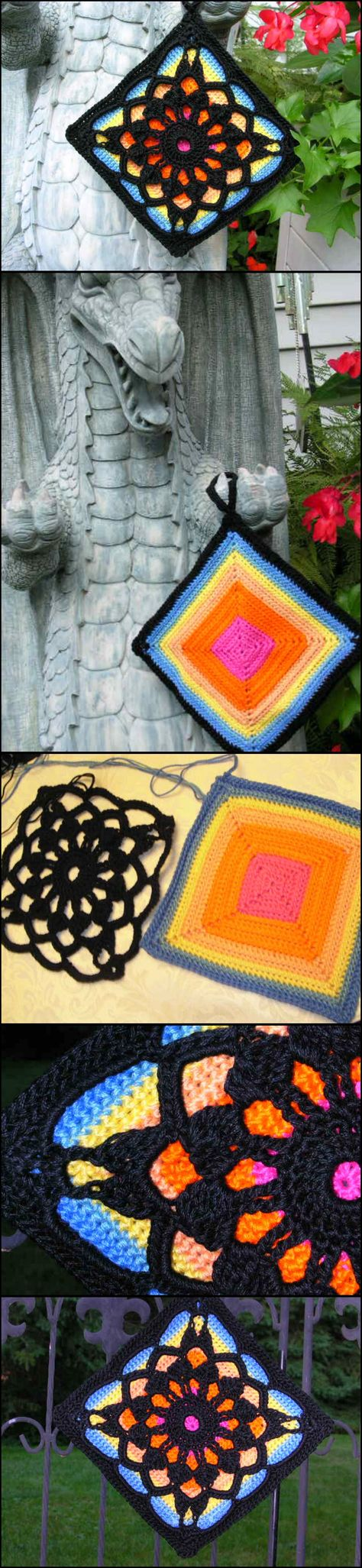 Crochet Fantastic Square Afghan Block with Free Pattern | Pinterest