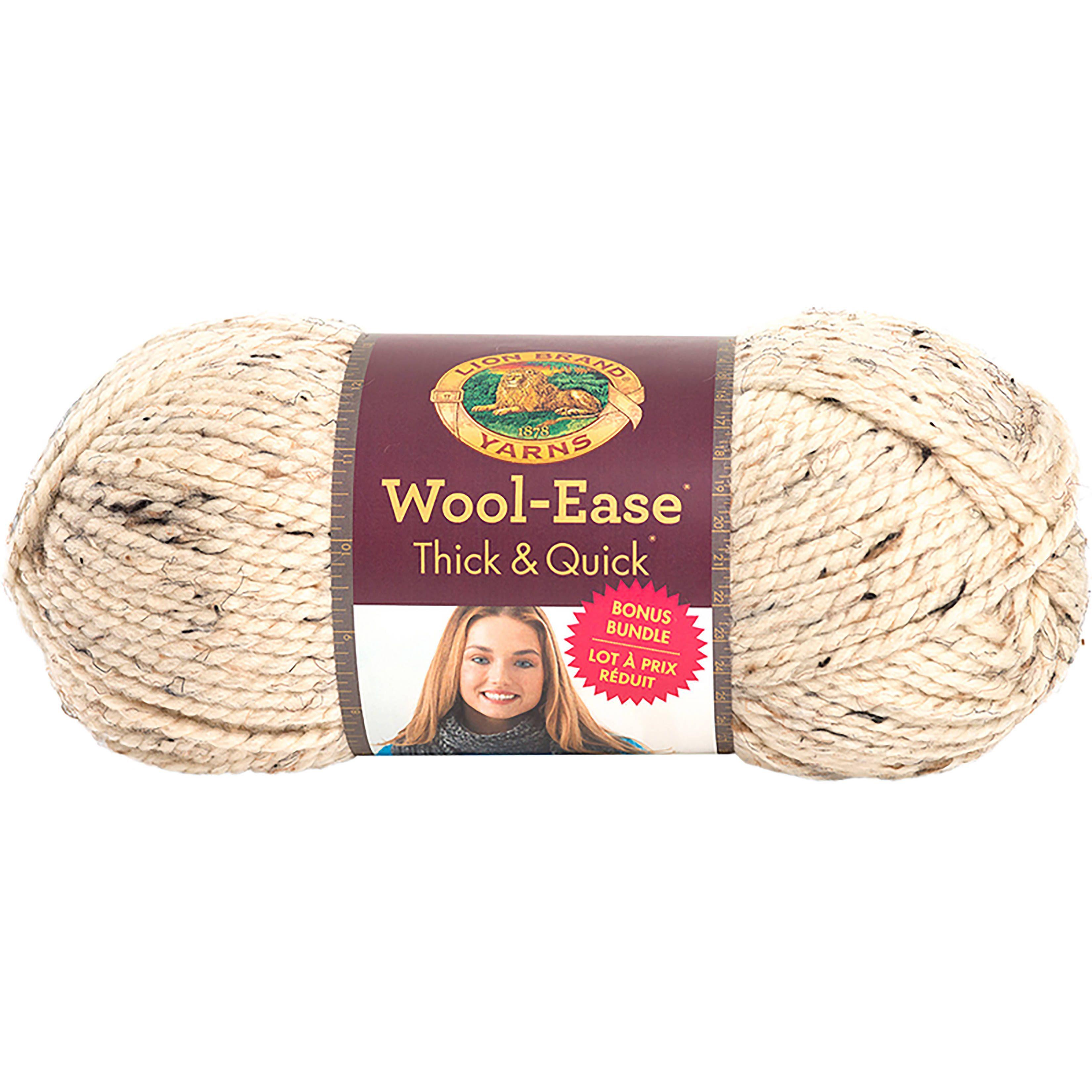 Lion Brand Wool-Ease Thick & Quick Bonus Bundle Yarn-Oatmeal | My ...