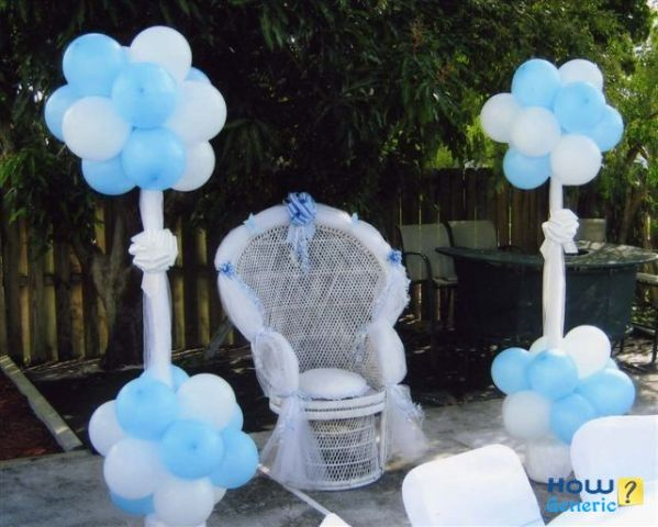 baby shower chair decorations cane dining table chairs for mother how to decorate howgeneric