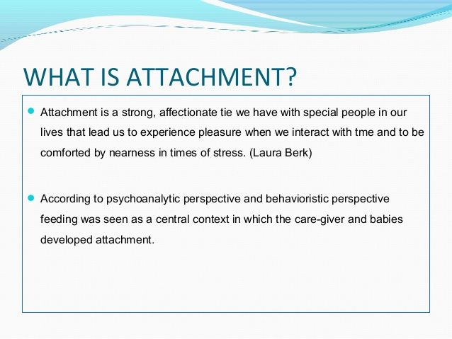 Attachment theory