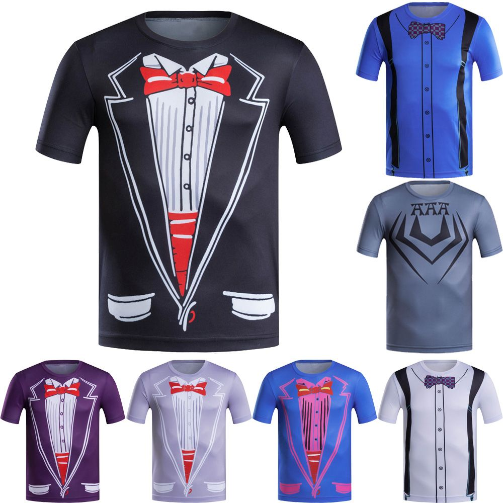summer outfits men Hot Cheap Men T-shirt Tuxedo t shirt Print Funny Top Tees  Short Sleeve Camisetas Summer Tshirt Plus Size -- Click the VISIT button to  ... 9126a3a91