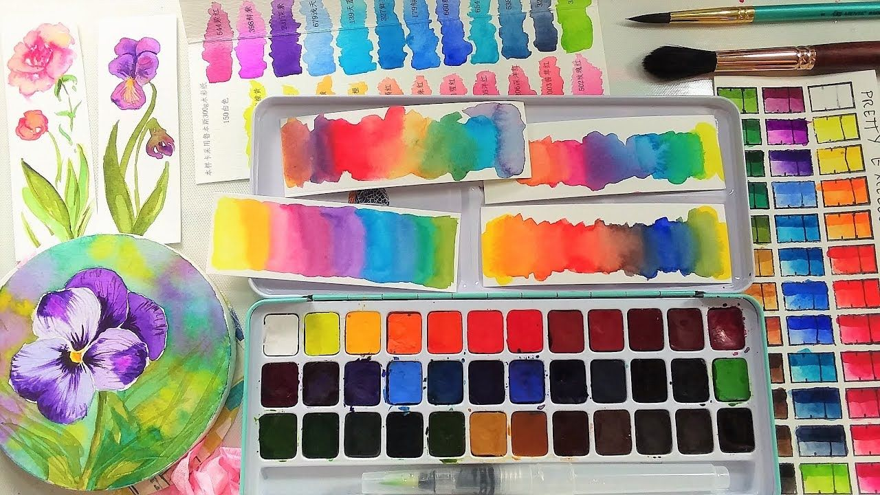 Wow These Are Only 20 Pretty Excellent Watercolor Set Of 36
