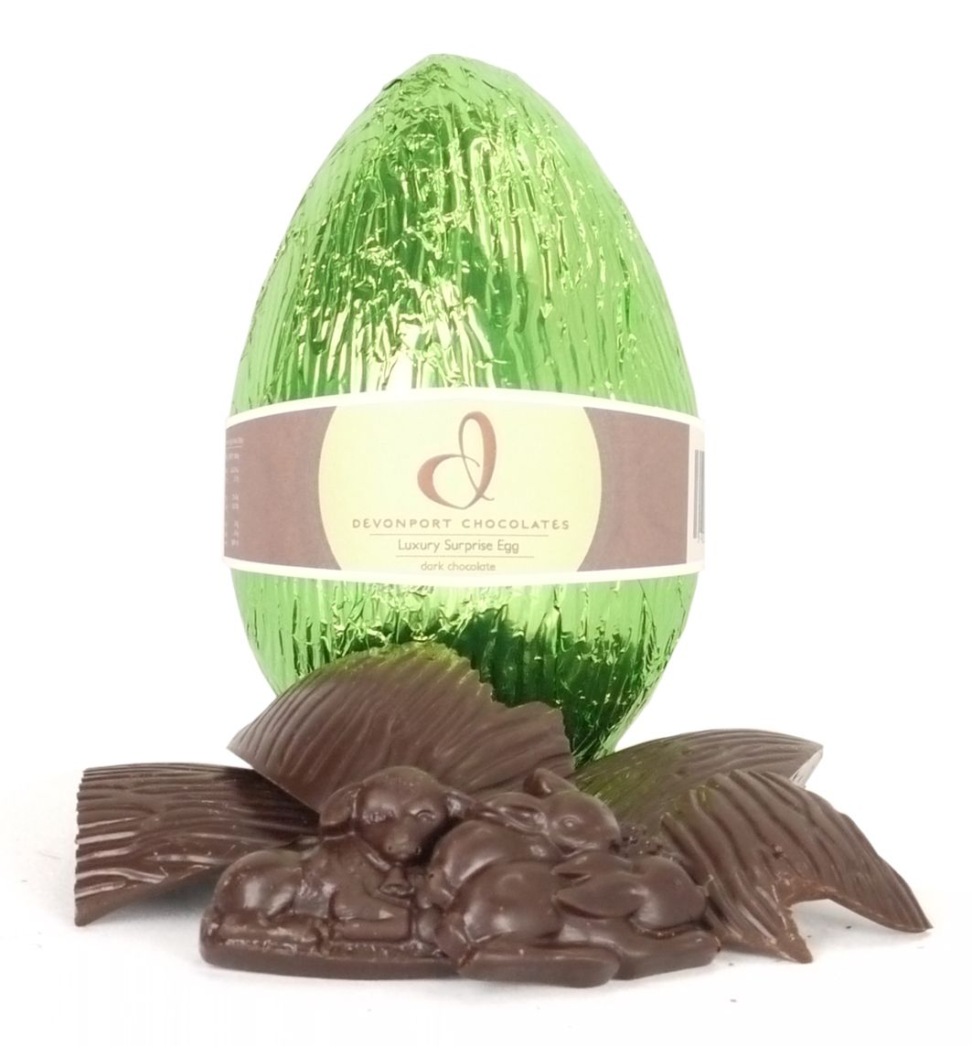Luxury surprise dark chocolate easter egg gluten free egg free luxury surprise dark chocolate easter egg gluten free egg free http gift hamperschocolate negle Image collections